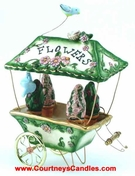 Flower Cart T-Lite - Clayworks Blue Sky 2005