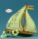Follow Your Dreams Sailboat - Clayworks Studio Original by Heather Goldminc