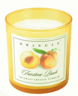 FREESTONE PEACH  Colored Crystal Tumbler Candle by Kringle Candles