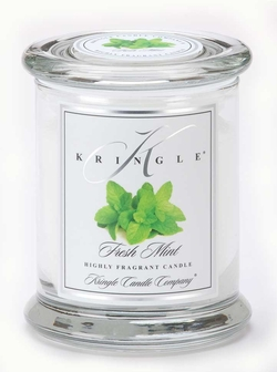FRESH MINT Medium  Kringle Candles 50 Hour Jar Candle