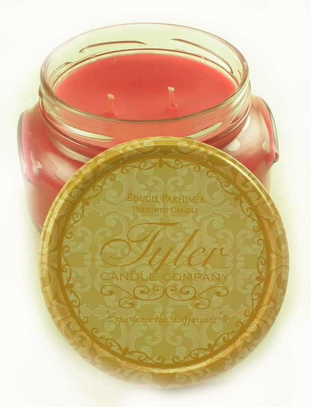 FROSTED POMEGRANATE Tyler 22 oz Large Scented 2-Wick Jar Candle