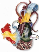 Funky Rooster Collection - Clayworks Blue Sky 2006