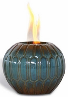 Geo Blues Flame Pot by Pacific Decor