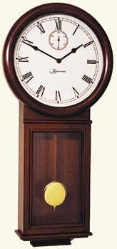 German Mission Style Quartz Cherry Wall Clock 854-W by Loricron Clocks