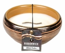 GILDED AMBER MEDIUM ROUND RibbonWick Scented Candle