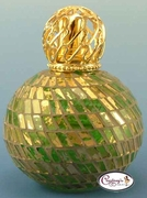 Gold & Green Olympia Mosaic Fragrance Lamp by Courtneys