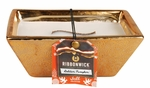 GOLDEN PUMPKIN Medium Rectangle RibbonWick Scented Candle