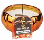 GOLDEN PUMPKIN Medium Round RibbonWick Scented Candle