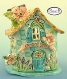 Grandma's Cottage - Clayworks Studio Originals by Heather Goldminc
