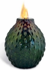 Green Brown Drops Flame Pot by Pacific Decor