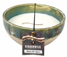 GREEN TEA AGAVE ROUND RibbonWick Scented Candle