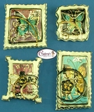 Insect Stamp Set of 4 - Clayworks Studio Originals by Heather Goldminc