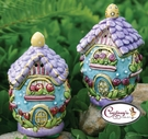 Jelly Bean House Salt & Pepper Shakers - Clayworks Blue Sky 2006