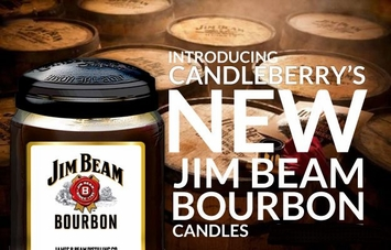 Jim Beam Bourbon Scented Jar Candles by Candleberry