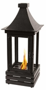 Kazu 27 Inch Metal Flame Lantern by Pacific Decor