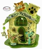 Kitty's Playhouse - Clayworks Studio Originals by Heather Goldminc