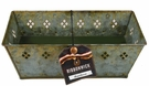 LARGE RECTANGLE VERDIGRIS TIN RibbonWick Scented Candle