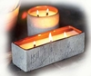LARGE RECTANGLE WARM HEARTH Triple-Wick WoodWick Scented Candle