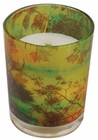 LATE HARVEST Decal Glass 13 oz WoodWick Scented Candle