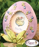 Lavendar Easter Frame/Place Card - Clayworks Blue Sky 2006