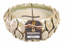 LILY BLOSSOM FLOWER Large Round RibbonWick Scented Candle