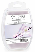 LOVE SPELL City Creek 4 oz Scented Wax Melts by Candle Warmers