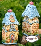 Lucky Duckies Salt & Pepper Shakers - Clayworks Blue Sky 2006