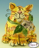 Marmelade the Cat - Vase / Reed Diffuser - Clayworks Studio Originals by Heather Goldminc