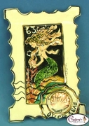 "Mermaid ""Overseas"" Stamp - Clayworks Studio Originals by Heather Goldminc"