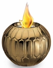Metallic Gold Flame Pot by Pacific Decor