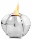 Metallic Silver Hex Flame Pot by Pacific Decor