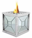 Mirror Square Flame Pot or Fire Pot by Pacific Decor