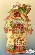Mom's House of Love Candle House - Clayworks Studio Originals by Heather Goldminc