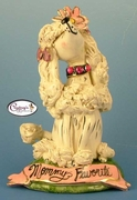 Mommy's Favorite Poodle Figurine - Clayworks Studio Originals by Heather Goldminc