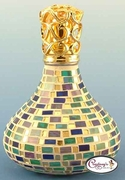 Multi Color Brick Vienna Mosaic Fragrance Lamp by Courtneys