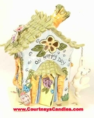 Oh Hoppy Day Candle House - Clayworks Blue Sky 2005