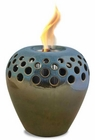 Olive Blue Flame Pot or Fire Pot by Pacific Decor