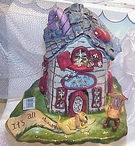 Over the Hill Candle House  - Clayworks & Blue Sky