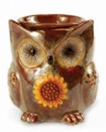 OWL BROWN  Fragrance Warmer - Wax Melter by AmbiEscents