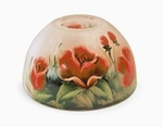Pink Floral Aurora  Candle Warmer Lamp Shade