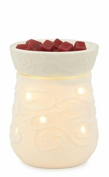 Porcelain Round ILLUMINATION Fragrance Warmers by Candle Warmers