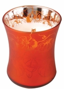 PUMPKIN STRUDEL Medium Decor Glass WoodWick Scented Candle