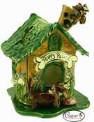 Puppy Palace - Clayworks Studio Originals by Heather Goldminc