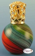 Red, Blue & Green Swirl Rio Fragrance Lamp by Courtneys