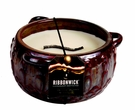 RED CHAI LARGE ROUND RibbonWick Scented Candle