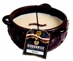 RED CHAI MEDIUM ROUND RibbonWick Scented Candle