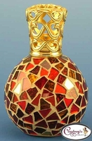 Rio Red and Gold Mosaic Fragrance Lamp by Courtneys