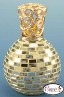Rio Silver Mirror Mosaic Fragrance Lamp by Courtneys