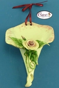 Roseblush Cornucopia - Clayworks Studio Originals by Heather Goldminc