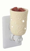 Round Cream Plug In Warmer / Night Light  by Candle Warmers
